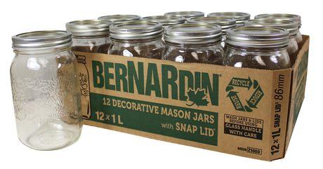 Bernardin Decorative Mason Jar Wm 1l Walmart Canada