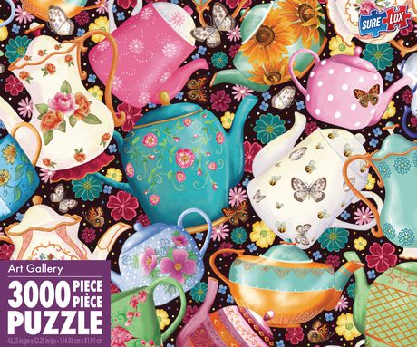 Sure-Lox 3000pc Teapots and Teacups Street Puzzle - image 1 of 2