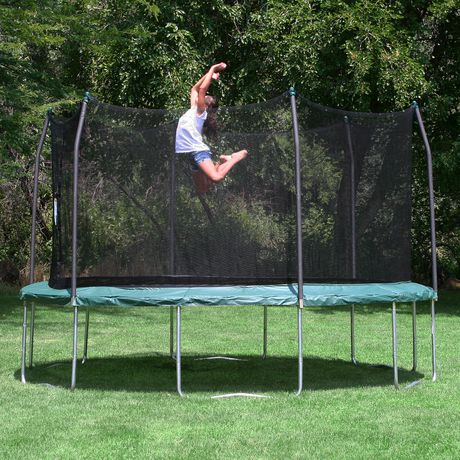 Skywalker Trampolines 15' Green Round Trampoline And Enclosure - image 2 of 8