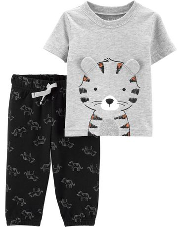 cf5fe5fa60a4 Child of Mine made by Carter s Newborn boys 2pc set - tiger ...