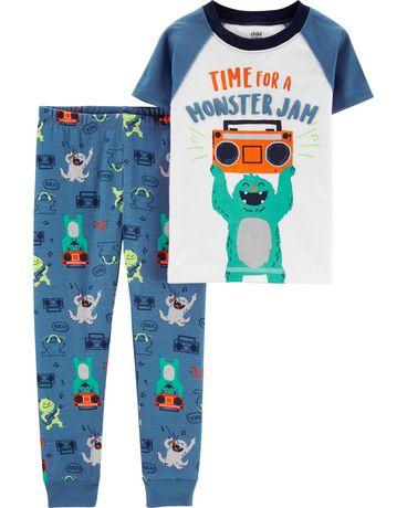 Pyjama 2pièces pour tout-petit Garcon Coton de  Child of Mine made by Carter's - monstre - image 1 de 1