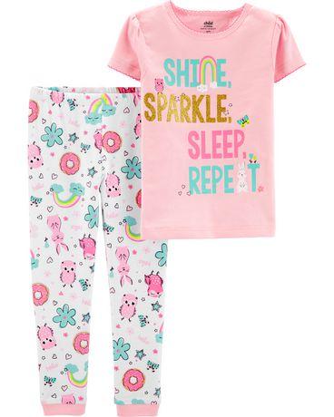 6ee24311dd4c2 Child of Mine made by Carter s Toddler Girls  2-piece Pyjama - shine  sparkle ...