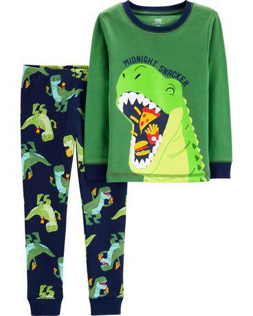 a5c3ef3bd Child of Mine made by Carter's Toddler Boys' 2-piece Pyjama -dino pizza ...