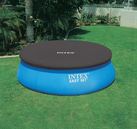 Intex 12ft easy set swimming pool debris cover walmart canada for Swimming pool supplies walmart