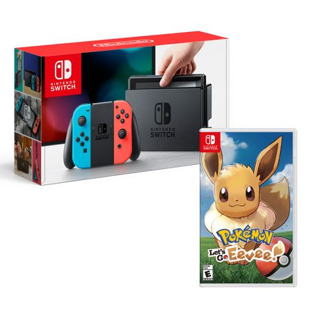 Nintendo Switch Console with Pokemon Let's Go Eevee! Edition Bundle - image 1 of 1