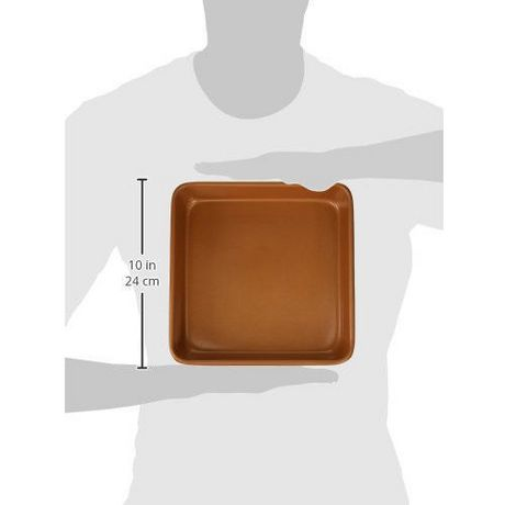 "Gotham Steel Bakeware - Nonstick Copper Square Baking Tin - 9.5"" x 9.5"" - image 2 of 2"