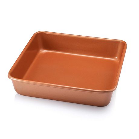 "Gotham Steel Bakeware - Nonstick Copper Square Baking Tin - 9.5"" x 9.5"" - image 1 of 2"