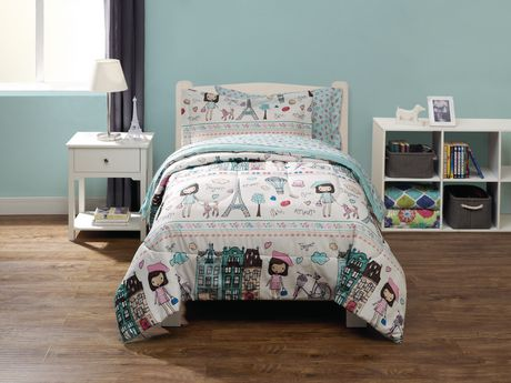 2094c7c3539ae Mainstays Kids Paris Bed in a Bag Bedding Set - image 1 of 1 ...