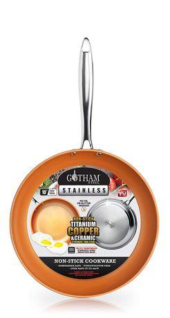 Gotham Steel Stainless Steel Premium 10 Frying Pan