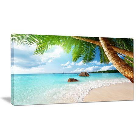 Tableau sur toile imprimée Design Art Photographie bord de mer Isle de Seychelles - image 1 de 2