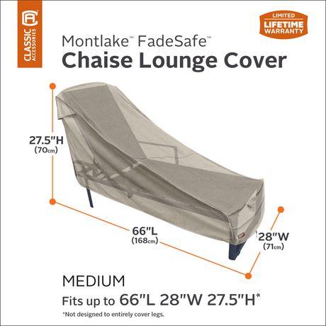 Housse de chaise longue de patio Montlake FadeSafe de Classic Accessories - Housse robuste pour meuble d'extérieur avec revers imperméable - image 2 de 9