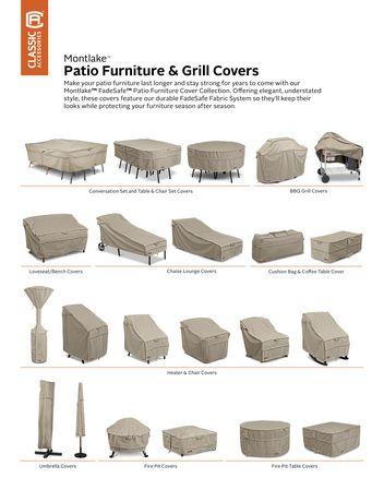 Housse de chaise longue de patio Montlake FadeSafe de Classic Accessories - Housse robuste pour meuble d'extérieur avec revers imperméable - image 6 de 9