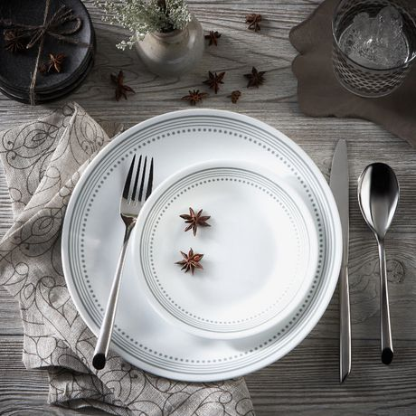 Corelle 174 Mystic Grey Dinnerware Set 16pc Walmart Canada