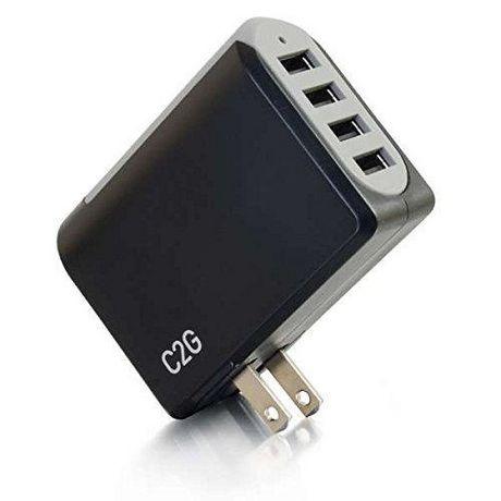 C2G 20277 Chargeur mural USB 4 ports - Adaptateur CA / USB, sortie 5V 4.8A - image 3 de 6