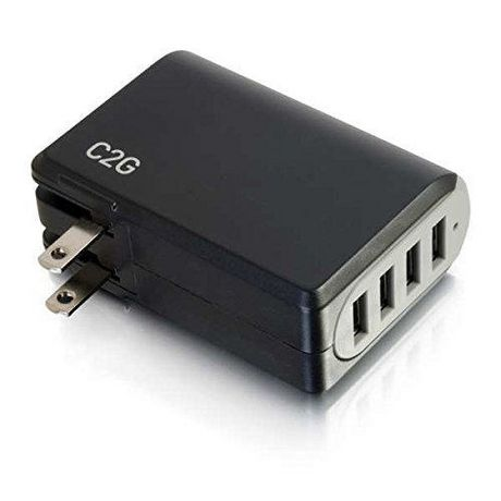 C2G 20277 Chargeur mural USB 4 ports - Adaptateur CA / USB, sortie 5V 4.8A - image 6 de 6