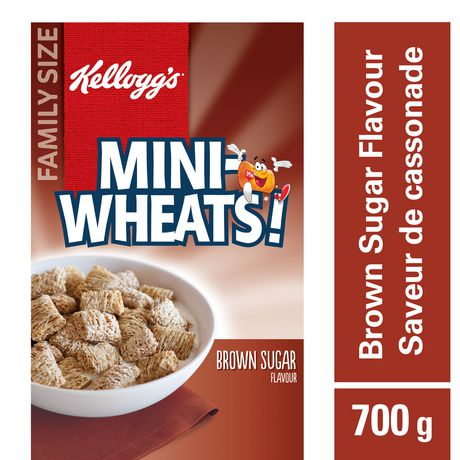 Kellogg's Mini-Wheats Cereal, Brown Sugar Flavour, 700g - image 1 of 11