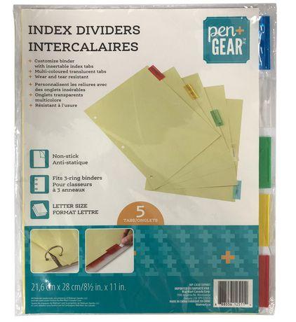 PEN+GEAR Pen + Gear Letter Size Index Dividers - image 1 of 1