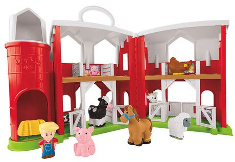 fisher price little people coffret de jeu de ferme des amis animaux. Black Bedroom Furniture Sets. Home Design Ideas