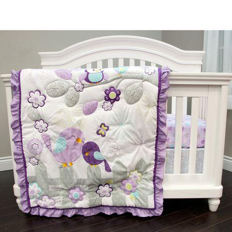 Baby's First by Nemcor Love Birds 3 Piece Crib Set - image 1 of 4