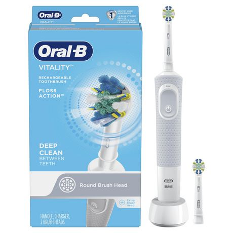 brosse dents lectrique rechargeable oral b vitality floss action walmart canada. Black Bedroom Furniture Sets. Home Design Ideas