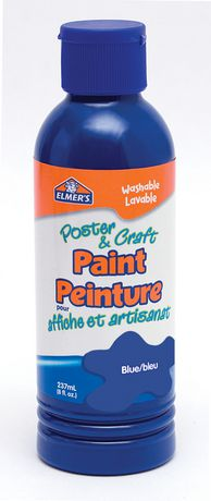 Elmer 39 s poster craft paint blue for Walmart arts and crafts paint