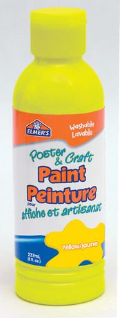 Elmer 39 s poster craft paint yellow for Walmart arts and crafts paint