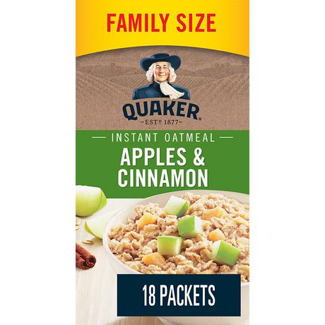 Quaker Apples & Cinnamon Instant Oatmeal - image 1 of 5