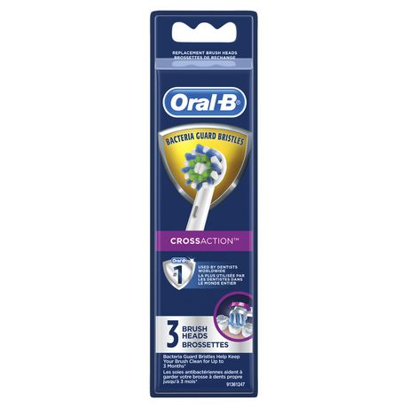 Oral-B Crossaction Electric Toothbrush Replacement Brush Heads - image 1 of 8