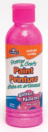 Elmer 39 s glitter poster craft paint pink for Walmart arts and crafts paint