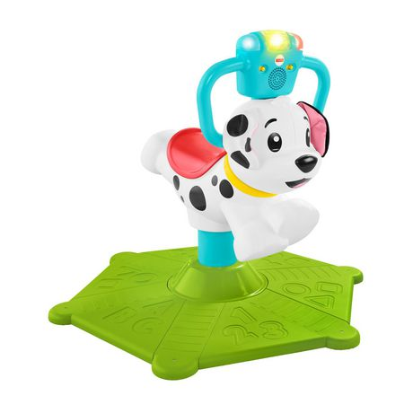 Fisher-Price Bounce And Spin Puppy Stationary Ride-On Toy Multi