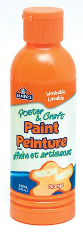 Elmer 39 s poster craft paint neon orange for Walmart arts and crafts paint