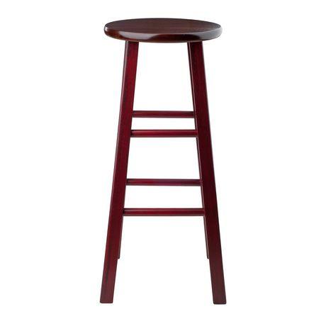 tabouret de bar de 29 po ivy marron rustique avec si ge noyer walmart canada. Black Bedroom Furniture Sets. Home Design Ideas