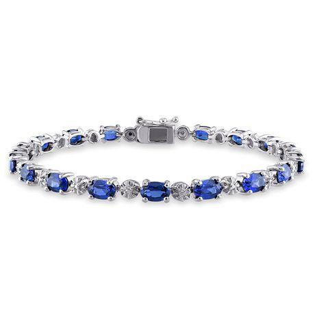 bracelet argent et saphir