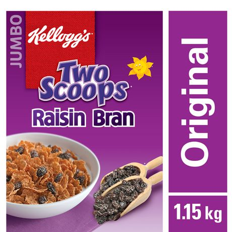 Kellogg's Two Scoops Raisin Bran Cereal,  1150g - image 1 of 5