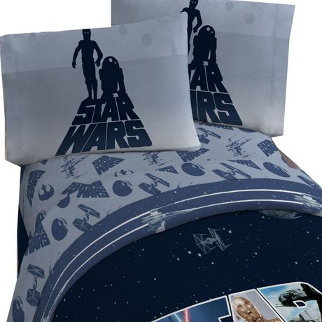 ens de draps classique star wars pour lit 2 places. Black Bedroom Furniture Sets. Home Design Ideas