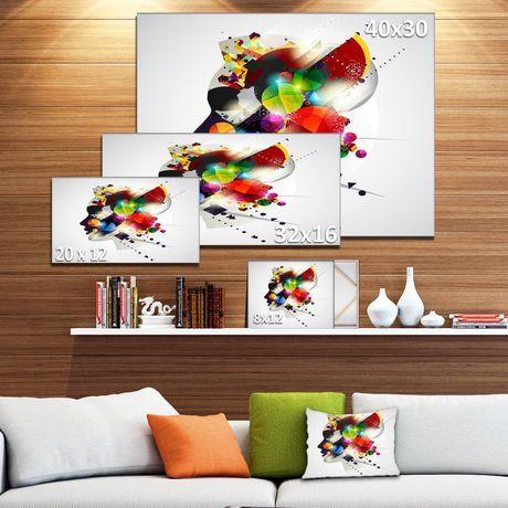 Impression sur toile « Woman Abstract Profile » Design Art - image 3 de 3