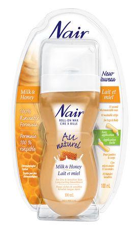 Nair® Au naturel Milk & Honey Roll-on Wax 100g - image 1 of 1