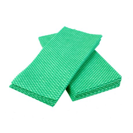 Duraplus Luxury Green And White Food Service Towel - image 1 of 1