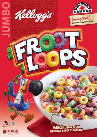 kellogg s froot loops cereal 825g jumbo size walmart canada