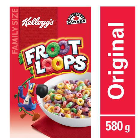 Kellogg's Froot Loops Cereal, Family Size, 580g - image 1 of 4