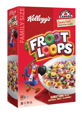 Kellogg's Froot Loops Cereal, Family Size, 580g - image 2 of 4