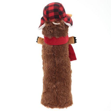 Location vacances temps, jouet gros chien peluche qui couine-Buffalo Plaid hérisson - image 3 de 4