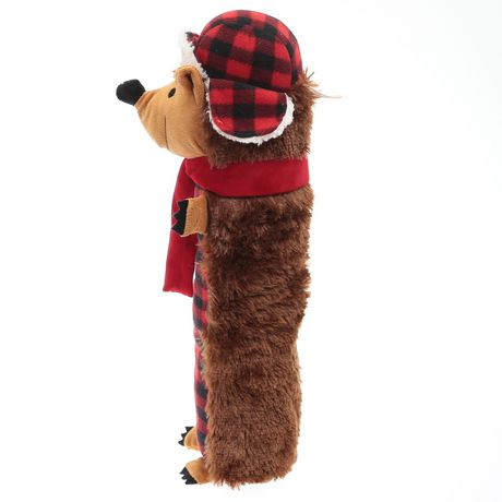 Location vacances temps, jouet gros chien peluche qui couine-Buffalo Plaid hérisson - image 2 de 4