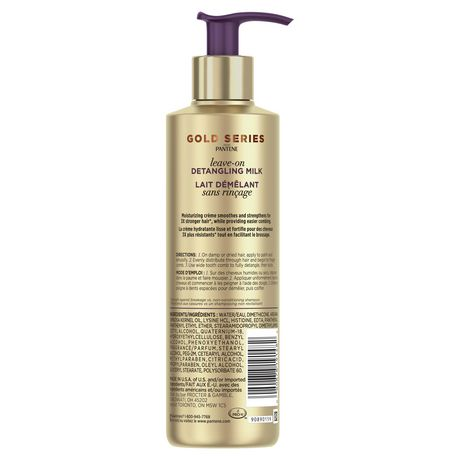 Gold Series from Pantene Sulfate-Free Detangling Milk with Argan Oil for Curly, Coily Hair - image 2 of 3