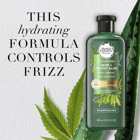 Herbal Essences Potent Aloe + Hemp Sulfate Free Shampoo - image 3 of 7