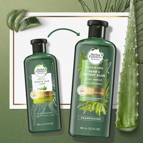 Herbal Essences Potent Aloe + Hemp Sulfate Free Shampoo - image 4 of 7