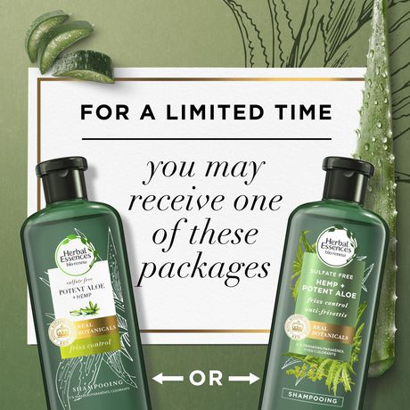 Herbal Essences Potent Aloe + Hemp Sulfate Free Shampoo - image 5 of 7