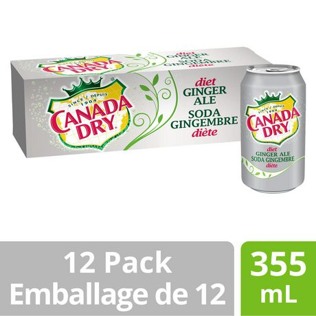 Canada Dry® Diet Ginger Ale 355 mL Cans, 12 Pack - image 1 of 9