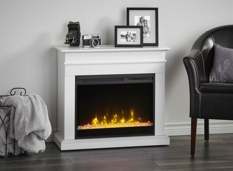 Jasmine Electric Fireplace Mantel by Cᶟ - White - image 7 of 8