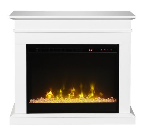 Jasmine Electric Fireplace Mantel by Cᶟ - White - image 2 of 8